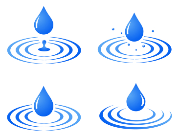 水滴と波紋のアイコンセット