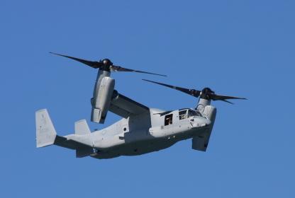 アメリカ海兵隊のMV-22オスプレイ
