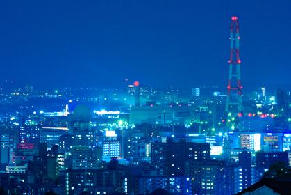 工業都市北九州の街並み夜景