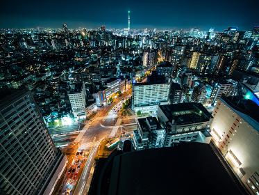 東京の夜景 文京シビックセンターからの風景