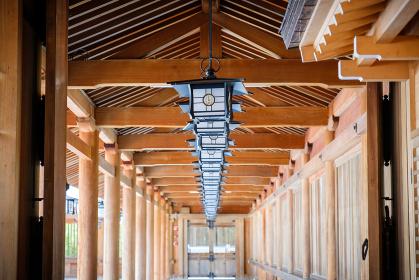 橿原神宮の灯籠 初夏 和風