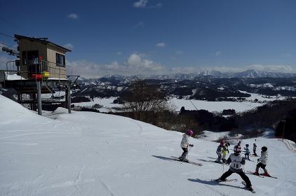 子供たちのスキー教室