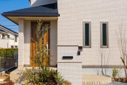 青空とモデルハウス 新興住宅地 住宅地イメージ