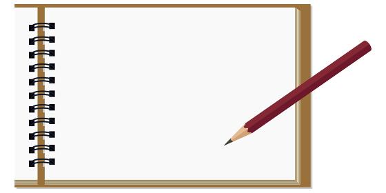 イラスト素材 スケッチブック 画用紙 紙 鉛筆 ベクター