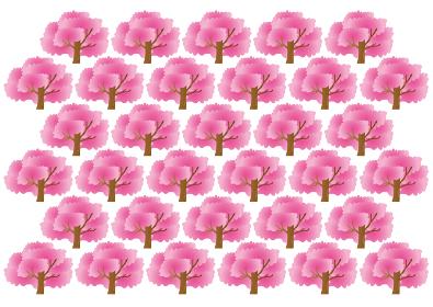 満開の桜のパターン