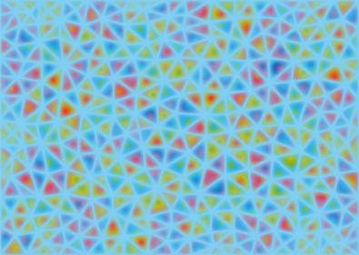 水色とソフトな色合いの三角形のモザイク模様