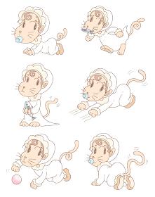 赤ちゃん・猫キャラクター