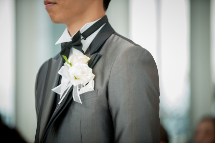 チャペルの新郎 結婚式 ウェディング ブライダル