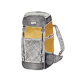 登山 ハイキング トレッキング 道具 アイテム リュックサック ザック 水彩 イラスト