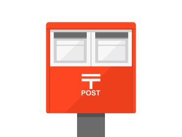 赤い郵便ポストのイラスト
