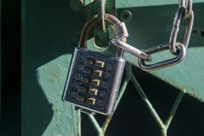 プッシュボタン式の南京錠
