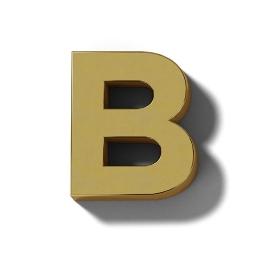 リアルな木製の文字ブロックのB