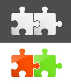 繋げた2ピースパズル