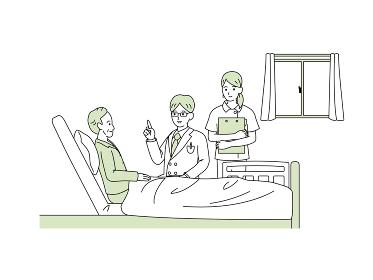 入院 年配の男性 説明する医師