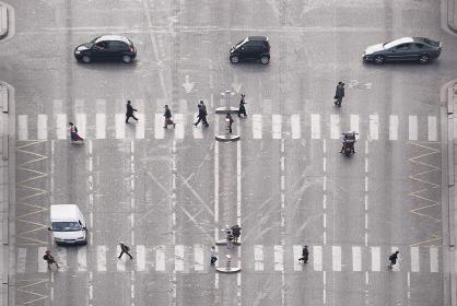 横断歩道(鳥瞰・俯瞰)