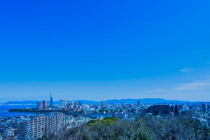 愛宕神社から見る福岡市の都市景観