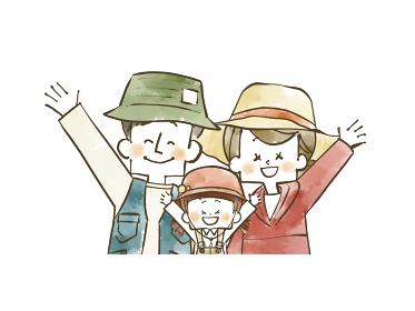 アウトドアウェアの家族