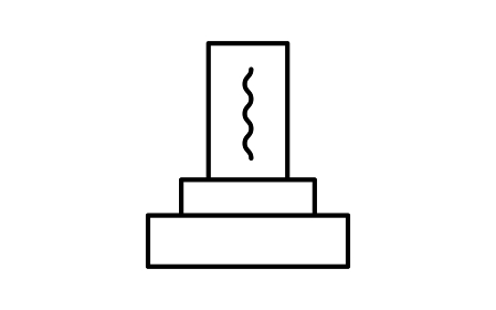 白黒の葬儀アイコン、墓石