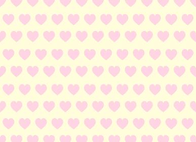 ピンクのハートのファンシーな背景素材