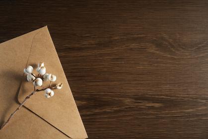 ナンキンハゼの実と封筒 4