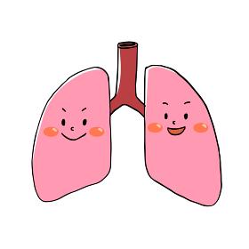 元気な肺のキャラクター