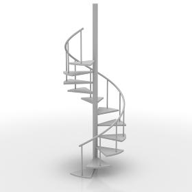 CGの螺旋階段