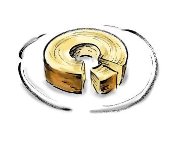 手描きイラスト素材 ケーキ バームクーヘン