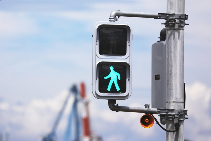 歩行者用信号機(青)