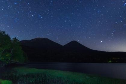北海道・阿寒国立公園 夏のオンネトーで眺める星空