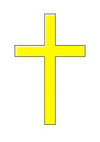 黄色の十字架