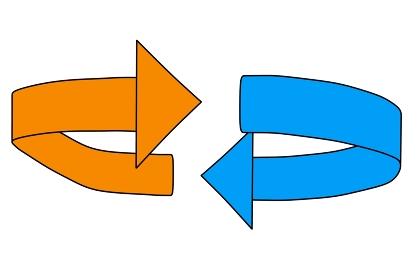 シンプルな回転を意味する矢印