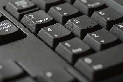 パソコンのキーボードのクローズアップ