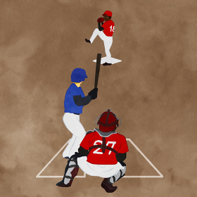野球試合のシーンのイラスト03