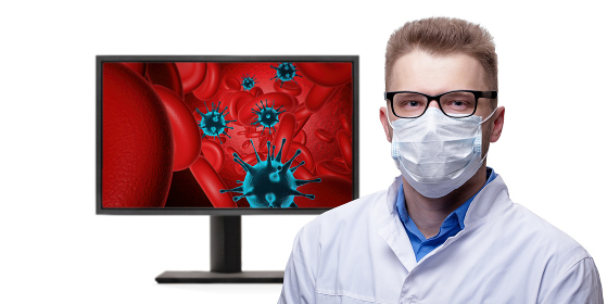 Young doctor against new Coronavirus 2019-nCoV
