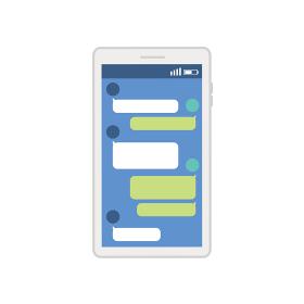 ITコミュニケーション ビジネスコンセプト スマートフォンのイラスト