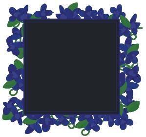 青い花のフレーム