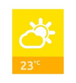 Weather web element banner design. Weather forecast, rain and sun, banner web interface, app forecast data information webpage vector illustration