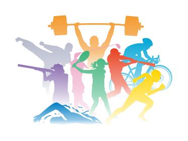 オリンピック スポーツ選手 シルエット イラスト素材