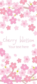 満開の桜の縦長の背景デザイン