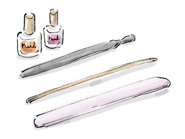手描きイラスト素材 お洒落 ジェルネイル ネイルグッズ ネイルの道具 ネイル用品