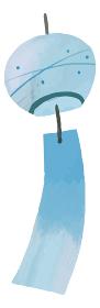 風鈴 イラスト 素材 水彩