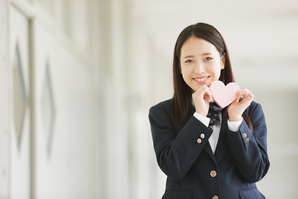 ハートを持つ女子高生