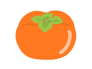 果物の柿のイラスト