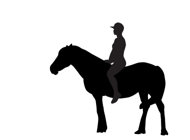 Silhouette of the Rider on the Horse. Vector Illustration. EPS10. Silhouette of the Rider on the Horse. Vector Illustration.