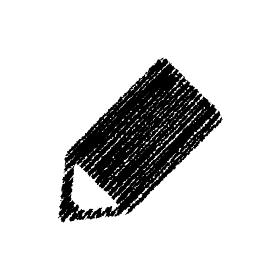 チョークで描いたような図形/アイコン(鉛筆)