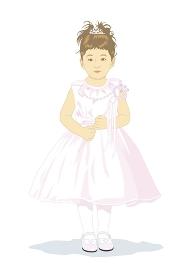 七五三のドレスを着た子供