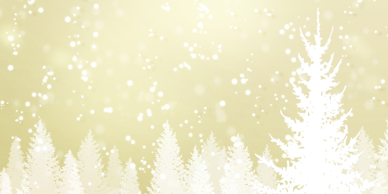 キラキラした雪景色、冬の背景素材(ゴールド)