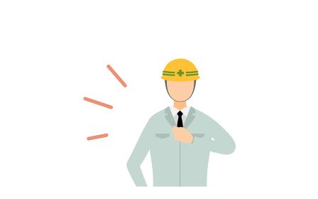 工事現場の監督のポーズセット、男性