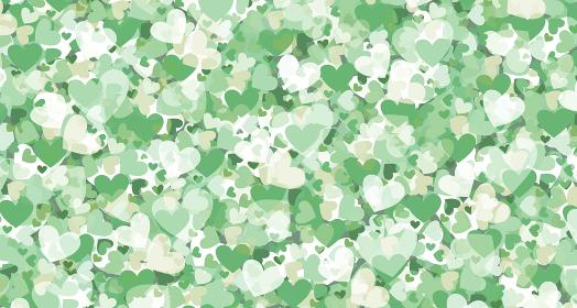 ハートの壁紙 グリーン