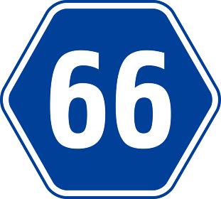県道66号線の道路標識